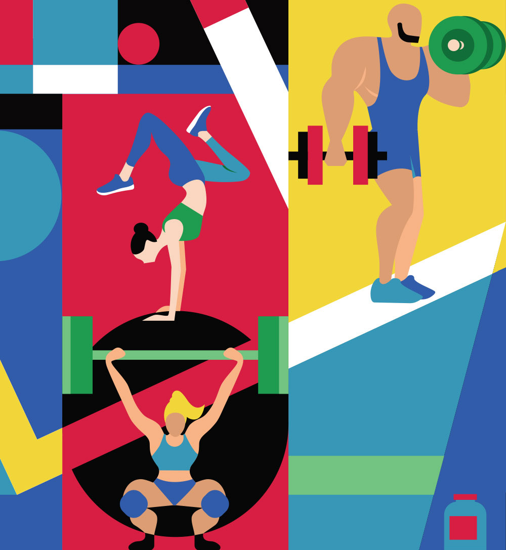 Gym wall Illustration